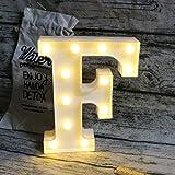Lettere luminose a LED con lettere dell'alfabeto con luci a LED che illuminano le parole in piedi, da appendere alla A alla Z, per matrimoni, feste di compleanno, decorazione da parete