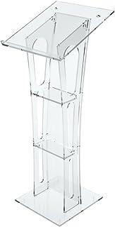 Avà srl Pupitre en Acrylique Transparent avec Plan incliné - Dimensions : 50 x 50 Hauteur 124cm