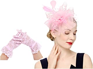 Cizoe Fascinators Hat for Women Flower Cocktail Tea Party Derby Kentucky Wedding Headwear Top Hat
