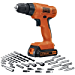 BLACK+DECKER LD120VA 20-Volt Max Lithium Drill/Driver with 30 Accessories (Renewed)