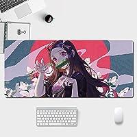 マウスパッド Demon Slayer ゲーミング マウス マット Xxl 拡張快適なキーボード ラージ マウス マット、ラップトップ 35.4x15.7in 用ゲーミング パッド-Color-1_35.4x15.7in/90x40cm