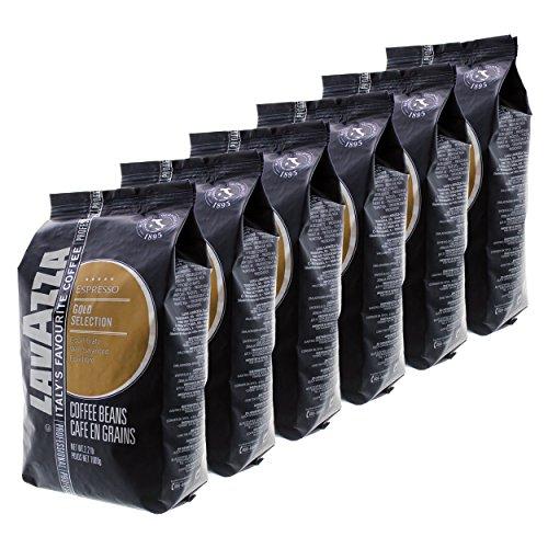 Lavazza Espresso Gold Selection, Café en Grains, Lot de 6, 6 x 1000g