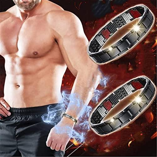 LONGPIN 2 Stück Magnetfeldtherapie Fit Plus Armband, Magnetische Gewichtsverlust Shape Up...