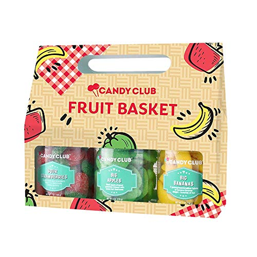 Candy Club, Fruit Basket Collection, Candies and Gummies Gift Pack -...
