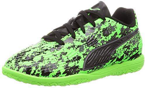 Puma Unisex-Kinder ONE 19.4 IT Jr Multisport Indoor Schuhe, Grün (Green Gecko Black-Charcoal Gray), 33 EU