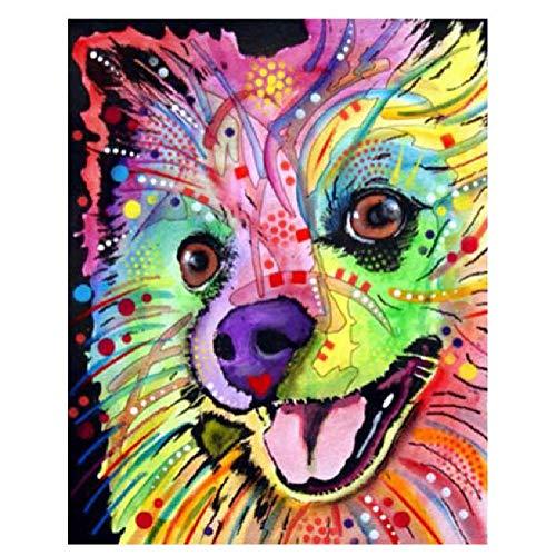 MAIYOUWENG Jigsaw Puzzle 1000 Stück Holzpuzzle Bunte Chihuahua Hund Tierfamilie Dekorationen, Einzigartige Geburtstagsgeschenk Geeignet Für Jugendliche Und Erwachsene