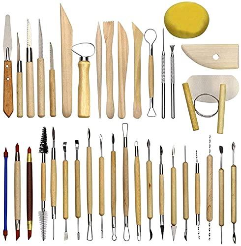 38 Piezas Herramientas de modelado de arcilla Set Ball Stylus Dotting Tools...