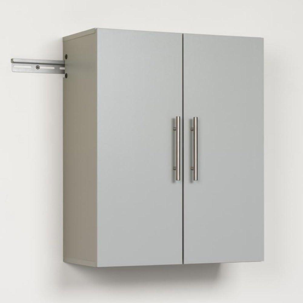 "Prepac GSUW-0706-1 Hang-Ups Upper Storage Cabinet, 24"", Light Gray"