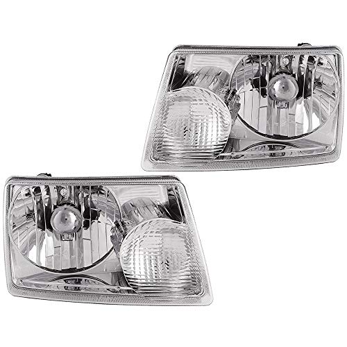 Epic Lighting OE Style Replacement Headlights Assemblies Compatible with 2001-2011 Ranger [ FO2502173 FO2503173 6L5Z13008BA 6L5Z13008AA ] Left Driver & Right Passenger Sides Pair