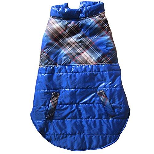 Coton Style Plaid pour chien salopette Combinaison Vêtements pour chien automne souple pour grand chien