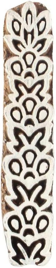 Bombing new work IndianShelf Handcrafted Brown Wooden Block 0.75 Print Genuine Dress X 3