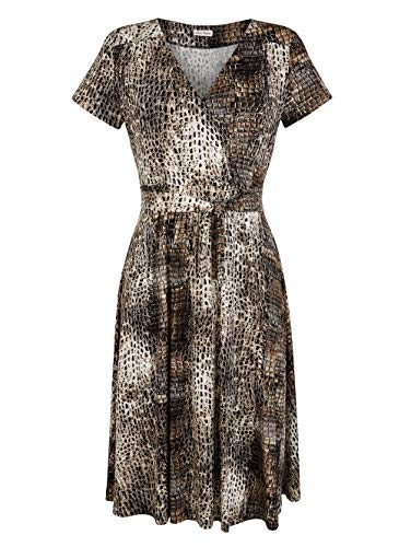 Alba Moda Kleid im Animal Allover Print Braun