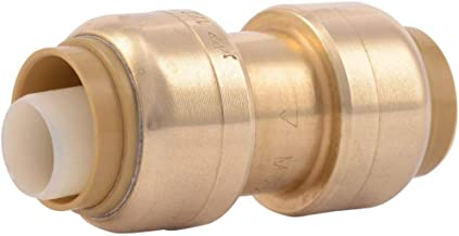 SharkBite U008LFA Straight Coupling Plumbing, 1/2 Inch, Pex Fittings, Push-to-Connect, Coupler, Copper, Cpvc