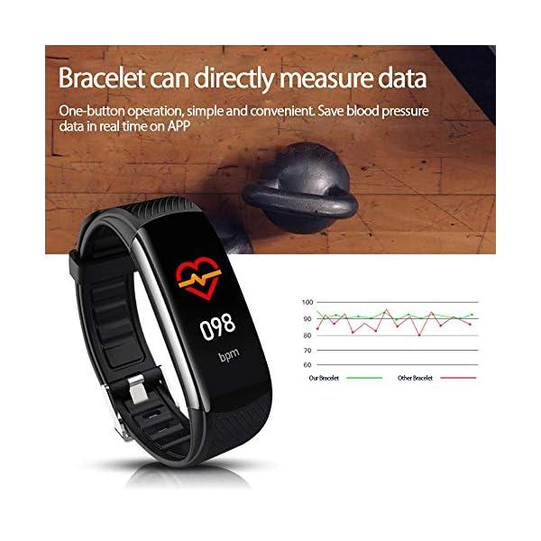 PYBBO Monitor de fitness con temperatura corporal y presión arterial, oxígeno y frecuencia cardíaca, monitor de sueño… 4