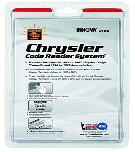 Chrysler Code Reading System Booklet - INNOVA 3165