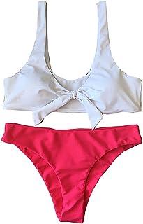 GGTFA Mujer Anudado Collar de Traje de Baño trajes de baño Traje de baño Bikini traje de baño
