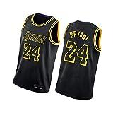 Camisetas de Baloncesto Kobe Bryant para Hombre Los Angeles Lakers 24# 8#, Ropa de Hip Hop de los 90 para Fiesta, Chaleco de Gimnasia Retro Tops Deportivos-Black A-M