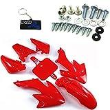 Stoneder, kit parafango rosso + viti di montaggio per Honda XR CRF 50 Pit Trail Bike