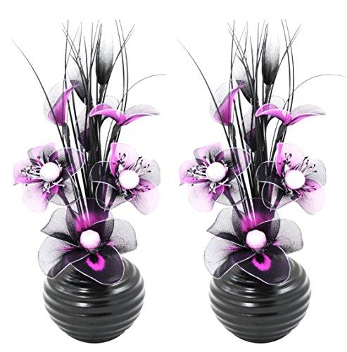Flourish Un Conjunto 2 Decoración Jarrones Flores