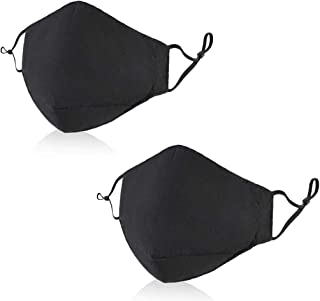 2PACK Cotton Unisex Face Shield Washable Reusable Cotton Fabric for Cycling Camping Travel for Men Women Kids Teens