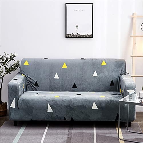 Plysch L-formad soffa elastisk möbelsoffa överdrag för vardagsrum stretch överdrag sofföverdrag med örngott A11 1-sits