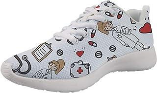 Woisttop, scarpe da corsa leggere per corridori con lacci, traspiranti, scarpe da ginnastica da ginnastica alla moda, per ...