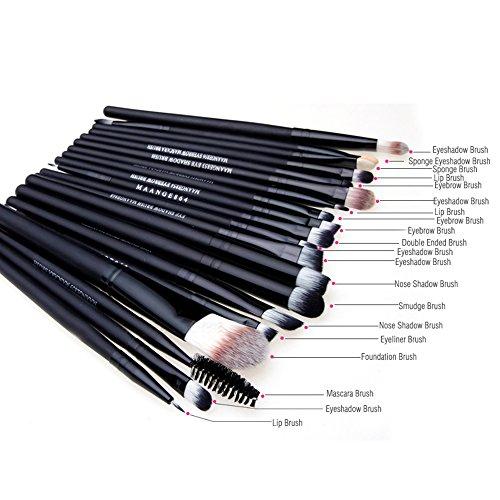 fenrad Professionale Make Up Set - 20pcs Pro Trucco Pennelli Cosmetici Brushs set Make Up Spazzole Concealer Ombretto per Sopracciglia Fondazione Ombra Polvere Cosmetica Tools Kit(nero)
