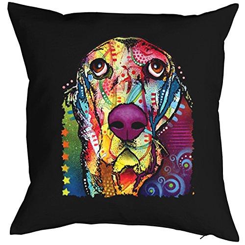 Basset Pillow, oreiller, almohada, Cuscino Pop Art Style
