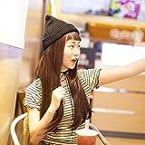 Doll wig lady long straight hair flat bangsquan headgearDark brown Dark brown