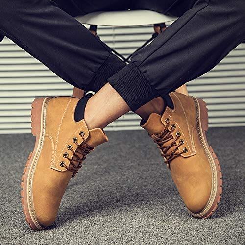 LOVDRAM Bottes Homme Bottes d'hiver en Coton Martin bottes pour Hommes dans Les Bottes, Bottes, Bottes, Bottes De Neige Sauvage, Bottes Jaunes