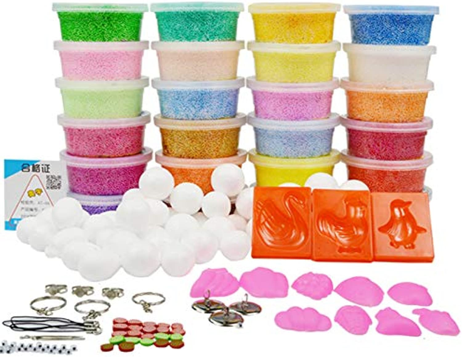 Laliva Play Foam Clay Playdough Soft Polymer Modelling Clay with Tools Good Package Special Toys Polymer Slime Clay Kids Gifts Toy  (color  24 colors)