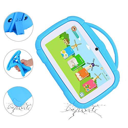 MIALX Tablet para Niños De 7'con Android 9.0 De 16 GB, WiFi, Bluetooth, Cámara Dual, para Educación, Juegos, Control Parental, Software para Niños Preinstalado con Estuche A Prueba De Niños