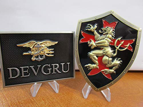 Set of 2 Navy Seal Team Six Black & Gold Squadrons NSWGD DEVGRU Challenge Coins