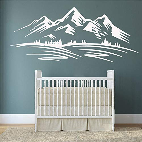 YuanMinglu Nette Berg Selbst Vinyl Aufkleber Applique Wandkunst Kinderzimmer Kinderzimmer wasserdichte Dekoration 42X97,5 cm