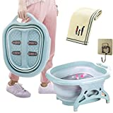 Collapsible Large Fold Foot Soaking Tub Foot Bath Massager with...