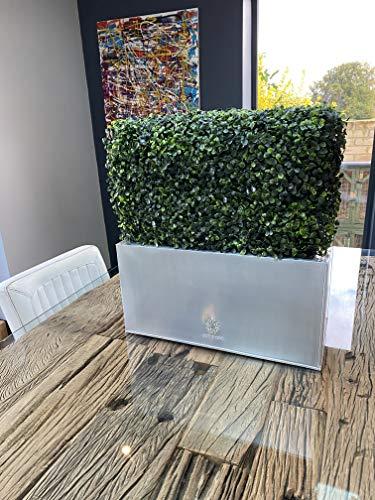 Künstlicher Buchsbaum-Blumenkasten, 54 cm hoch x 50 cm lang x 24 cm breit