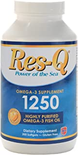 Res-Q 1250 Omega-3 Fish Oil 200 Capsules