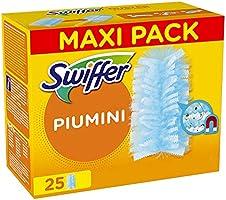 Swiffer Duster Piumini Cattura Polvere, 25 Panni, Cattura e Intrappola Polvere e Sporco, Ottimo per I peli di Animale,...