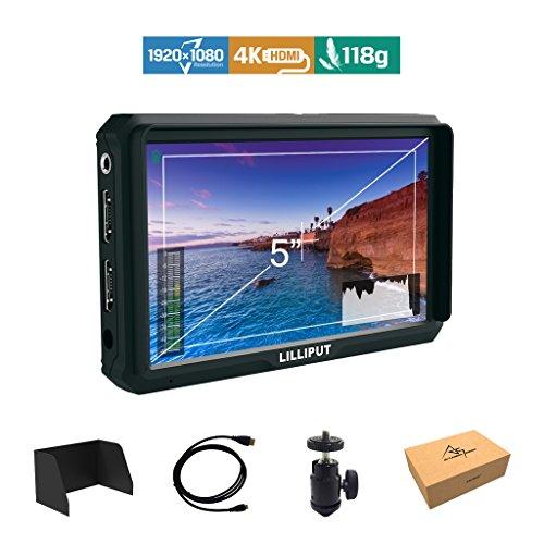 Lilliput A5 5 Zoll 1920x1080 HD 441ppi IPS Kamera Feld Monitor 4K HDMI Input output Video DSLR feldmonitor für A7 A7R A7S III A9 DSLR Zhiyun Crane 2 M TILTA G2X Ronin-S