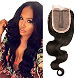 BLISSHAIR 100% Virgin Human Hair Lace Closure 3,5 X 4 Middle Part Body Wave (12inch)