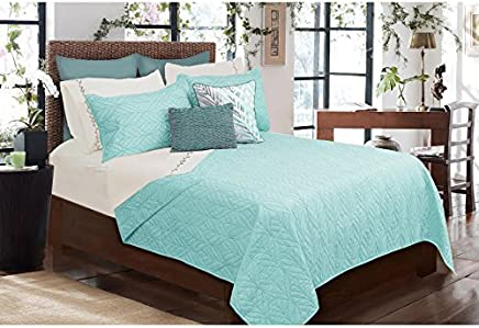 Safdie & Co. Tropicana Collection 3 Piece Quilt and Sham Set,  King
