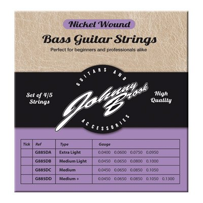 Johnny Brook Set Of 5 High Quality Nickel Wound Bass Guitar Strings For 5...