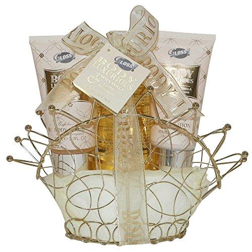 Coffret cadeau pour femme - Diadème de Bain Métallique - Body Luxurious - Vanille/Tilleul