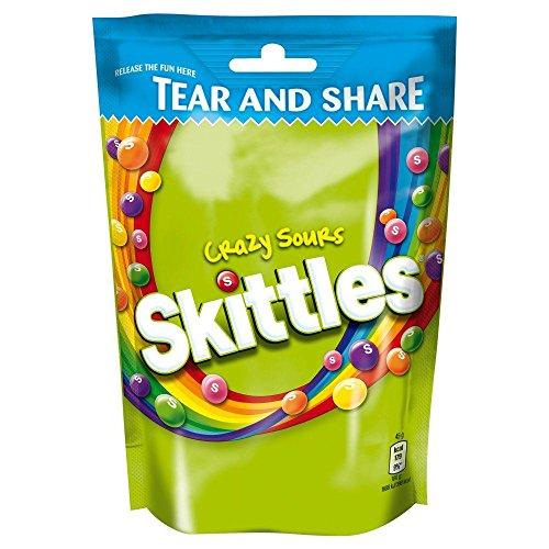 Skittles Verrueckt Sauere Kaubonbons Pack - 174g -4-er Pack
