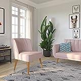 Novogratz Brittany Upholstered Accent, Pink Linen Chair