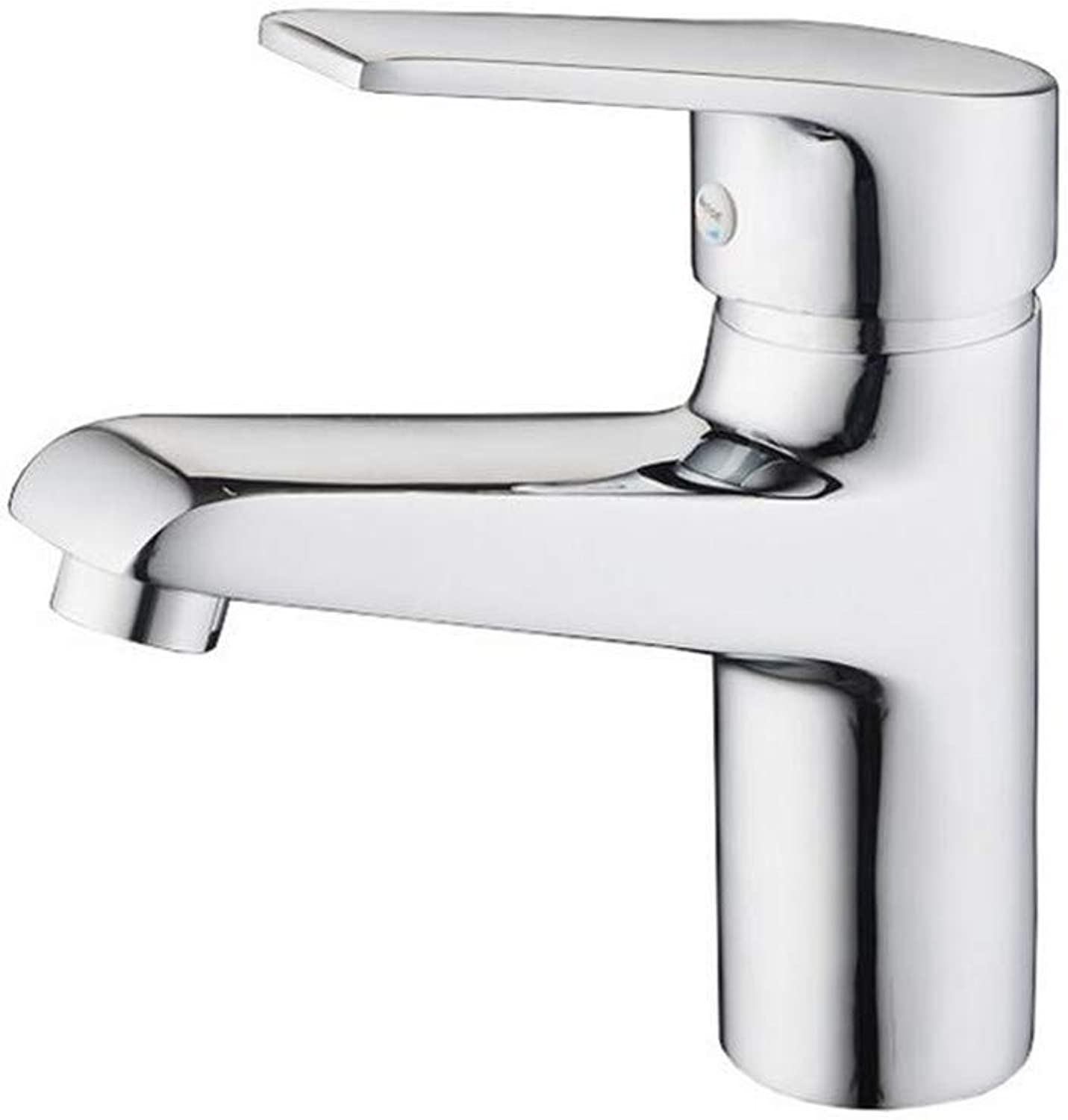 Faucetbasin Mixer Tap Copper Basin Faucet Single Hole Single Cold and Hot Basin Wash Basin and Faucet.