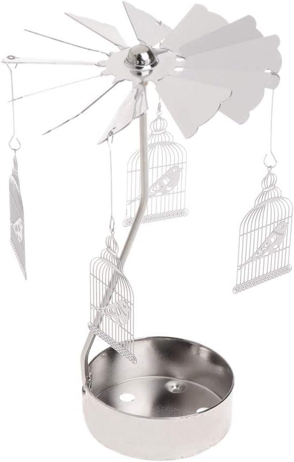 MIKI-Z Rotary Spinning Tealight Bougie M/étal Th/é Lumi/ère Titulaire Carrousel D/écor /À La Maison Cadeaux