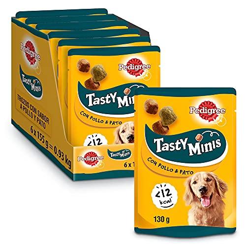 Pedigree Tasty Mini Snacks para perros sabor Pollo y Pato (Pack de 6 x 130g)