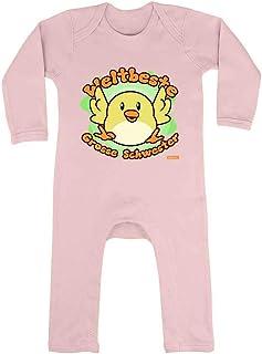 HARIZ HARIZ Baby Strampler Weltbeste Grosse Schwester Küken Geburt Geschwister Inkl. Geschenk Karte Zuckerwatte Rosa 3-6 Monate