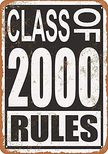 560 WENKLL Cla Of 2000 Rul 8x12inch Pub Shed Bar Man Cave Home Bedroom Office Kitchen Gift Metal Sign